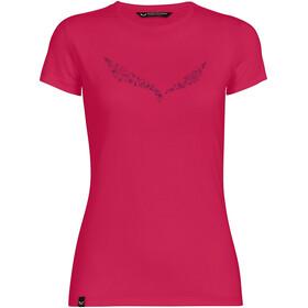 SALEWA Solid Dry SS T-shirt Damer, pink